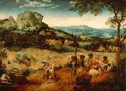 Pieter Brueghel the Younger Hay Harvest painting