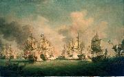 Richard Paton The Battle of Barfleur, 19 May 1692 oil