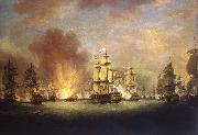 Richard Paton The Moonlight Battle off Cape St Vincent, 16 January 1780 oil