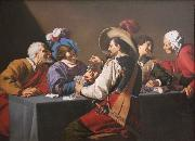 Theodoor Rombouts Playing Cards oil painting reproduction