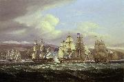 Thomas Luny Blockade of Toulon, 1810-1814: Pellew's action, 5 November 1813 oil painting reproduction
