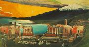Tivadar Kosztka Csontvary Ruins of the Ancient theatre of Taormina oil on canvas