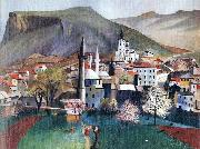 Tivadar Kosztka Csontvary Springtime in Mostar oil on canvas