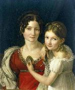 riesener portrait of a mother and daughter oil