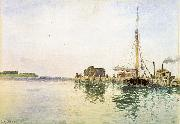 Alfred Thompson Bricher Harbor painting