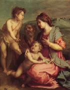 Andrea del Sarto Holy Family with john the Baptist painting