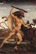 Antonio Pollaiolo Hercules and the Hydra painting