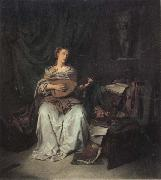 BEGA, Cornelis Lute Player oil on canvas
