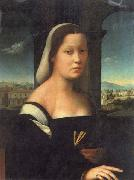 BUGIARDINI, Giuliano Portrait of a Woman oil painting reproduction