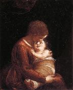 CAMBIASO, Luca Madonna and Child oil on canvas