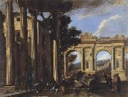 CODAZZI, Viviano Arcitectural View with Two Arches oil painting reproduction