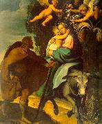 Carducci, Bartolommeo The Flight into Egypt oil on canvas