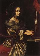 Carlo Dolci St.Cecilia oil on canvas
