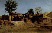 Carlos de Haes Tileworks in the Principe Pio Mountains oil on canvas