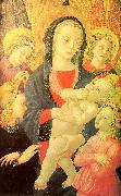 Castello Nativity, Master of the The Virgin Child Surrounded by Four Angels oil on canvas