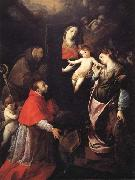Cerano Madonna and Child with SS.Francis,Charles,and Catherine of Alexandria oil on canvas