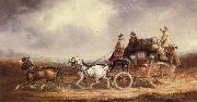 Charles Cooper The Edinburgh-London Royal Mail on the Road oil on canvas
