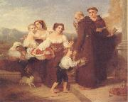 Charles Lock Eastlake The Salutation to the Aged Friar oil on canvas