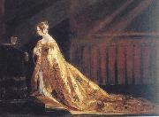 Charles Robert Leslie Queen Victoria in her Coronation Robes oil on canvas