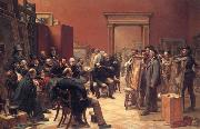 Charles west cope RA The Council of the Royal Academy Selecting Pietures for the Exhibition oil on canvas