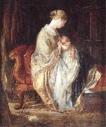 Charles west cope RA The Young Mother oil on canvas