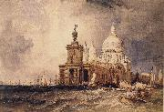 Clarkson Frederick Stanfield Venice:The Dogana and the Salute oil on canvas