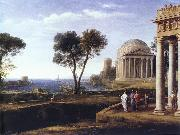 Claude Lorrain Landscape with Aeneas at Delos oil painting reproduction