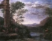 Claude Lorrain Landscape with Ascanius Shooting the Stag of Sylvia oil painting reproduction