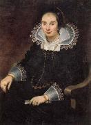 Cornelis de Vos Portrait of a Lady with a Fan oil on canvas
