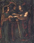 Dante Gabriel Rossetti How They Met Themselves painting