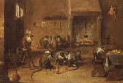 David Teniers Mokeys in a Tavern oil painting reproduction