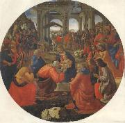 Domenico Ghirlandaio The Adoration of the Magi oil painting reproduction