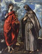El Greco SS.John the Evangelist and Francis oil on canvas