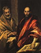 El Greco Apostles Peter and Paul oil on canvas