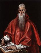 El Greco Saint Jerome as a Cardinal oil on canvas