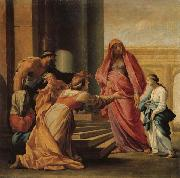 Eustache Le Sueur The Prsent of the Virgin in the Temple oil painting reproduction