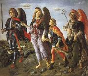 Francesco Botticini Tobias and the Tree Archangels oil painting reproduction