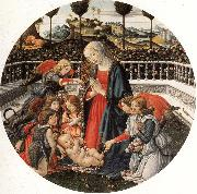 Francesco Botticini The Adoration of the Child china oil painting artist