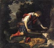 Francesco Curradi Narcissus at he Spring oil