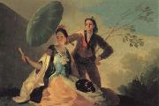 Francisco de goya y Lucientes The Parasol oil on canvas