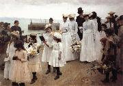 Frank Bramley For of Such is the Kingdom of Heaven oil
