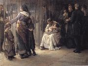 Frank Holl Newgate-Committed for trial oil