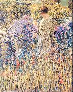 Frieseke, Frederick Carl Lady in a Garden oil painting reproduction