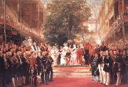 Henry Courtnay Selous The Opening Ceremony of the Great Exhibition,I May 1851 oil on canvas