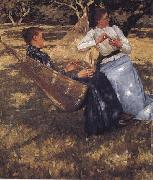 Henry Herbert La Thangue In the Orchard oil on canvas