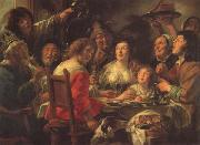 Jacob Jordaens The King Drinks Celebration of the Feast of the Epiphany oil on canvas