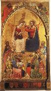 Jacopo Di Cione The Coronation of the Virgin wiht Prophets and Saints oil on canvas