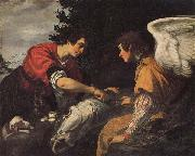 Jacopo Vignali Tobias and the Angel oil painting reproduction