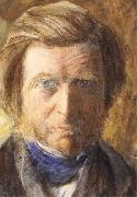 John Ruskin Self-Portrait oil