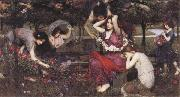 John William Waterhouse Flor and the Zephyrs oil painting reproduction
